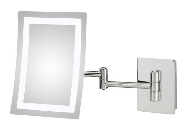 APTATIONS 949-55-43HW SINGLE-SIDED LED RECTANGULAR HARDWIRED WALL MIRROR IN CHROME