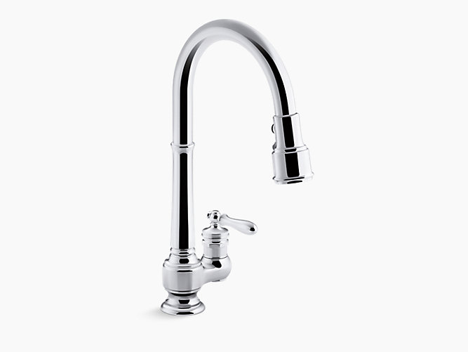KOHLER K-99260 ARTIFACTS PULLOUT SPRAY KITCHEN FAUCET WITH BERRYSOFT, SWEEP AND DOCKNETIK TECHNOLOGIES