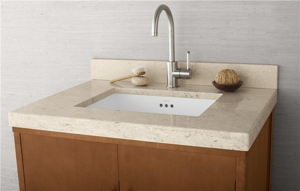 Ronbow 303331 1 My Wideappeal 31 X 22 Inch Marble Vanity Top In Cream Beige 2 Inch Thick
