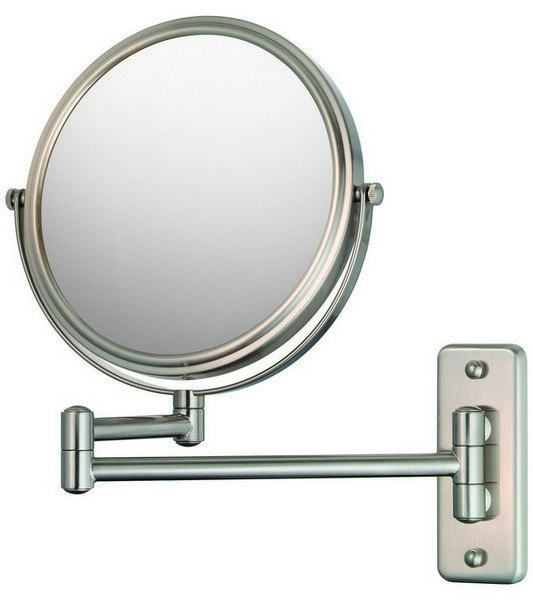 APTATIONS 21175 DOUBLE ARM WALL MIRROR IN BRUSHED NICKEL