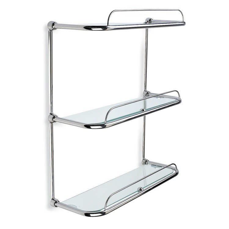 StilHaus 515 Shelves 16.1 Inch Triple Glass Bathroom Shelf
