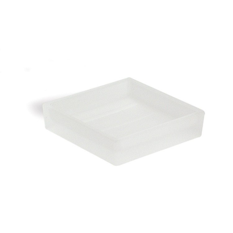 StilHaus 623 Glass Square Counter Frosted Glass Soap Dish