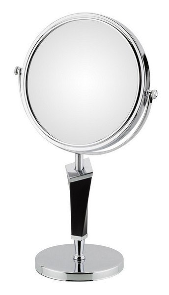 APTATIONS 80735 HELIX MIRROR FREE STANDING IN CHROME AND BLACK