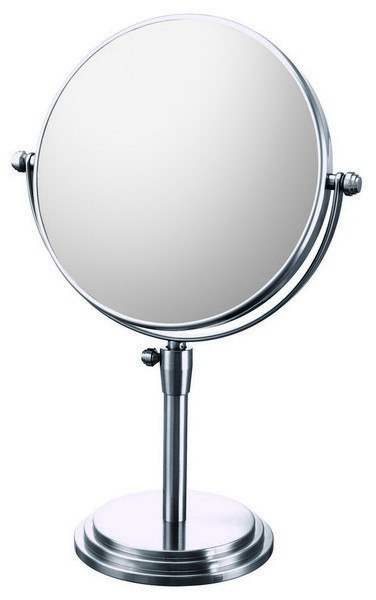 APTATIONS 817 7-7/8 INCH CLASSIC ADJUSTABLE MAGNIFIED FREE-STANDING MAKEUP MIRROR