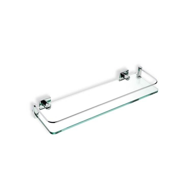 STILHAUS 820-08 URANIA 15.7 INCH CLEAR GLASS BATHROOM SHELF