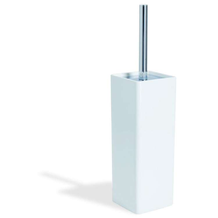 StilHaus GE039 Gea Brass and Ceramic Toilet Brush Holder