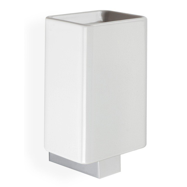 StilHaus GE10 Gea White Ceramic Wall Mounted Toothbrush Holder