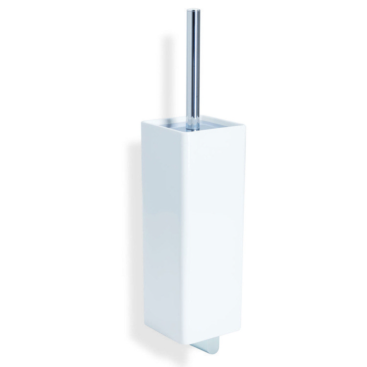 StilHaus GE12 Gea Wall Mounted Ceramic and Brass Toilet Brush
