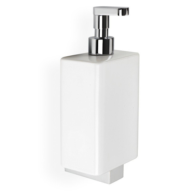 STILHAUS GE30 GEA CERAMIC WALL MOUNTED SOAP DISPENSER