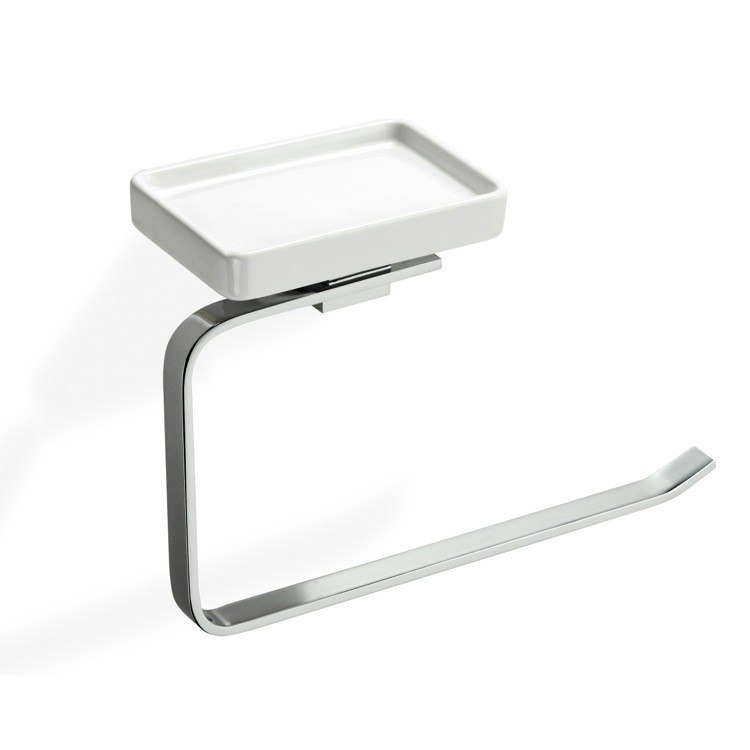 STILHAUS GE79 GEA TOWEL HOLDER WITH SOAP DISH