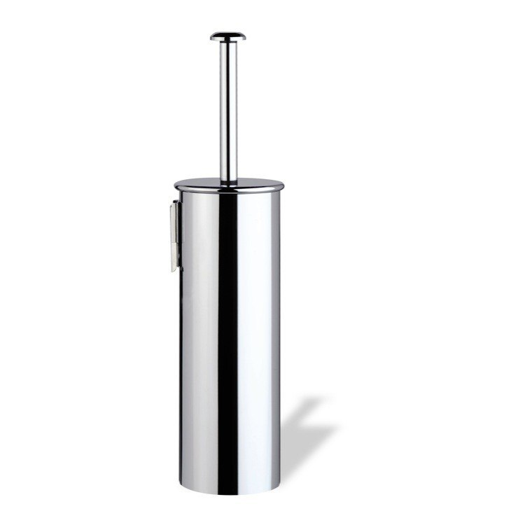 StilHaus H039M-08 Holiday Wall Mounted Rounded Chrome Toilet Brush Holder