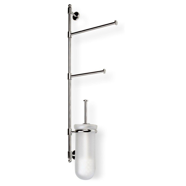 STILHAUS P25-08 PEGASO WALL MOUNTED CHROME BATHROOM BUTLER