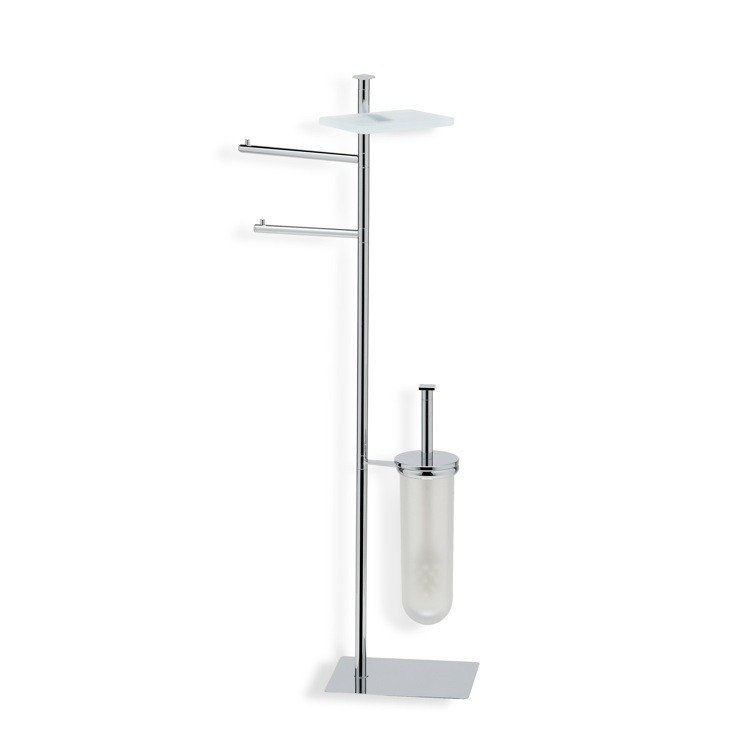STILHAUS Q21-08 QUID FREE STANDING CHROME 4-FUNCTION BATHROOM BUTLER