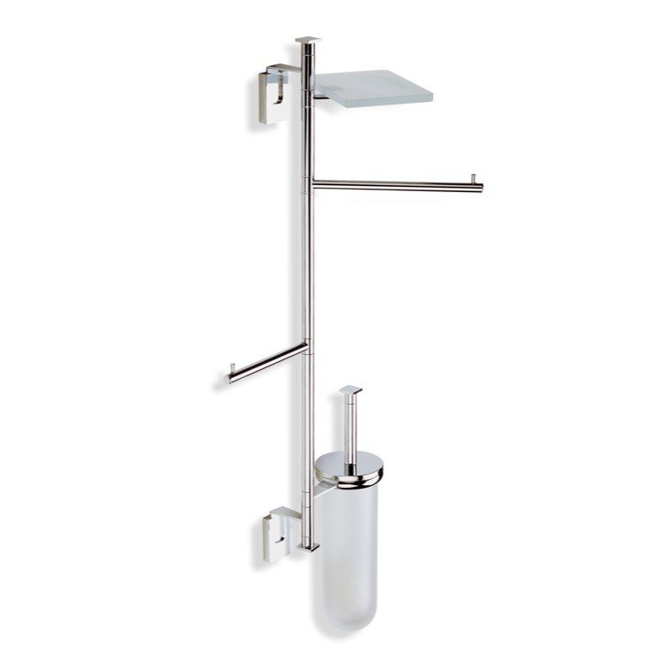STILHAUS Q25-08 QUID WALL MOUNTED CHROME BATHROOM BUTLER