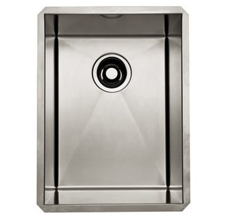 Rohl RSS1318 Luxury Stainless Steel 14-1/2 Inch Single Bowl Kitchen or Bar/Food Prep Sink