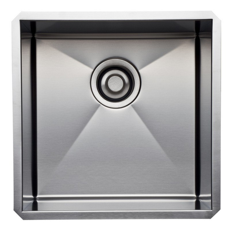 ROHL RSS1515 LUXURY STAINLESS STEEL 16-15/32 INCH SINGLE BOWL KITCHEN OR BAR/FOOD PREP SINK