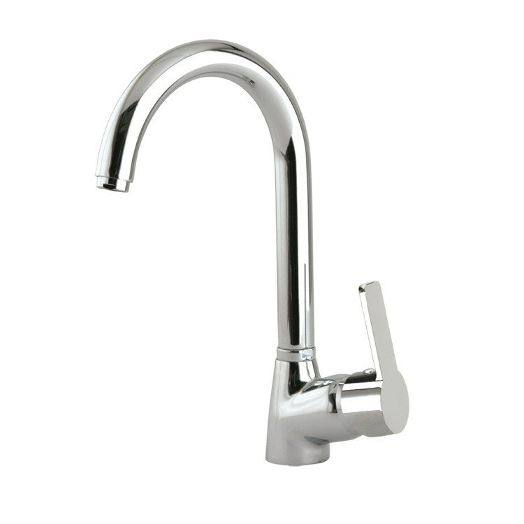 Ramon Soler US-9306 Rs-Q Brass Single Hole Kitchen Sink Faucet with Swivel Spout in Chrome