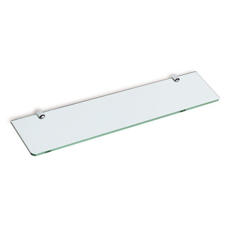 STILHAUS Z04 SHELVES 23.6 INCH SQUARE 24 INCH CLEAR GLASS BATHROOM SHELF