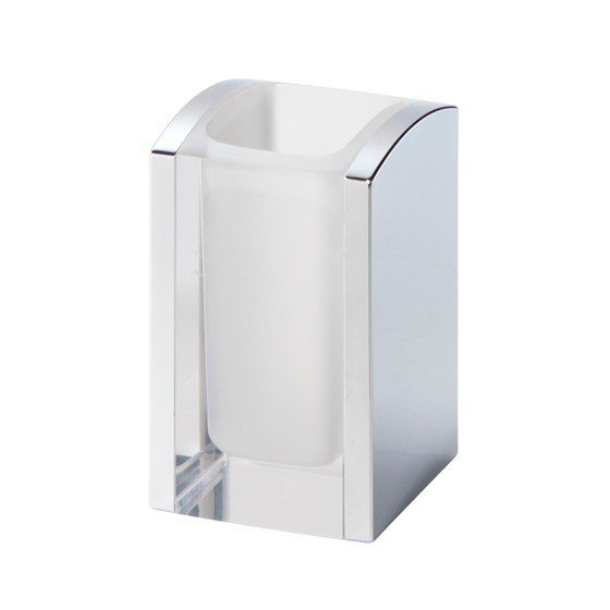 GEDY 1198 AEDIS THERMOPLASTIC RESINS SQUARE TOOTHBRUSH HOLDER