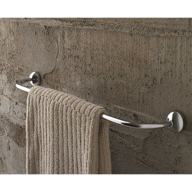 Toscanaluce 1508 Riviera 18 Inch Polished Chrome Curved Towel Bar