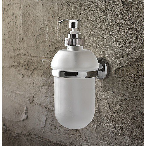 Toscanaluce 1523 Riviera Wall Mounted Round Frosted Glass Soap Dispenser