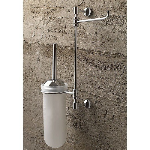 Toscanaluce 1526 Riviera Wall Mounted Polished Chrome 2-Function Toilet Butler