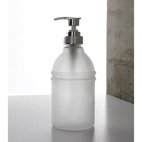 TOSCANALUCE 1563 RIVIERA ROUND FROSTED GLASS SOAP DISPENSER