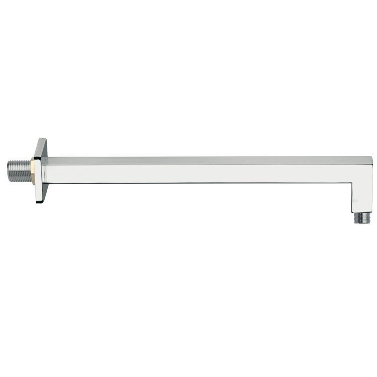REMER 348S40US SQUARE 16 INCH SHOWER ARMS WALL-MOUNTED SQUARED SHOWER ARM WITH SQUARE WALL FLANGE