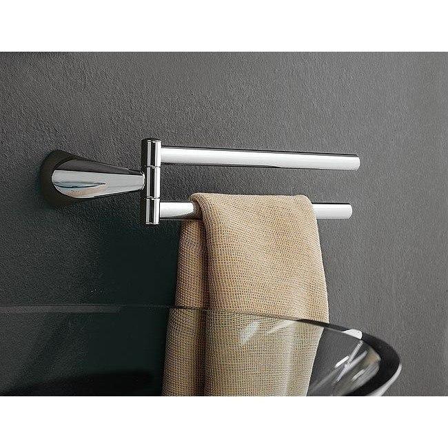 Toscanaluce 5519 dx/sx Kor 14 Inch Chrome Double Arm Swivel Towel Bar