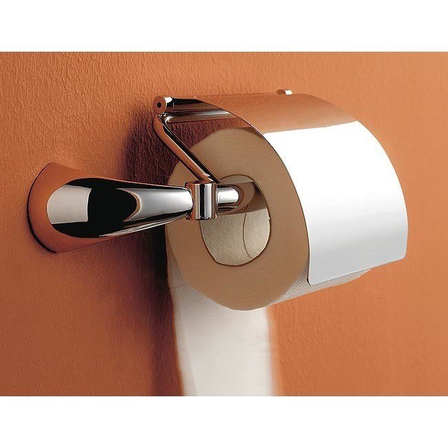 Toscanaluce 5525 dx/sx Kor Chrome Toilet Paper Holder with Cover
