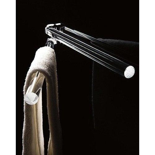 TOSCANALUCE 619 ORCHIDEA 16 INCH PLEXIGLASS DOUBLE ARM SWIVEL TOWEL BAR