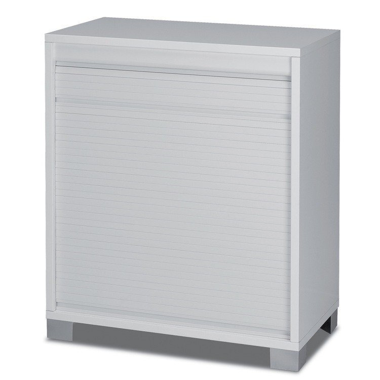 Sarmog 7046 Quadrante Modern White Small Cabinet with Rolling Shutter