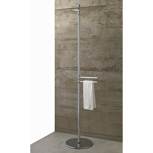 Toscanaluce 821 Riviera 14 Inch Free Standing Polished Chrome Tall Towel Stand