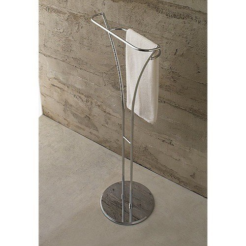 Toscanaluce 827 Riviera 14 Inch Free Standing Polished Chrome Towel Stand