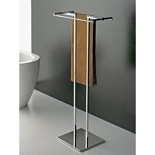 TOSCANALUCE 877 EDEN 14 INCH FREE STANDING TOWEL STAND WITH CHROME BASE