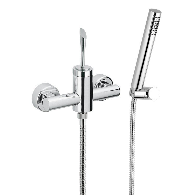 REMER J39 JAZZ SINGLE LEVER SHOWER DIVERTER WITH HAND SHOWER AND HOLDER IN CHROME