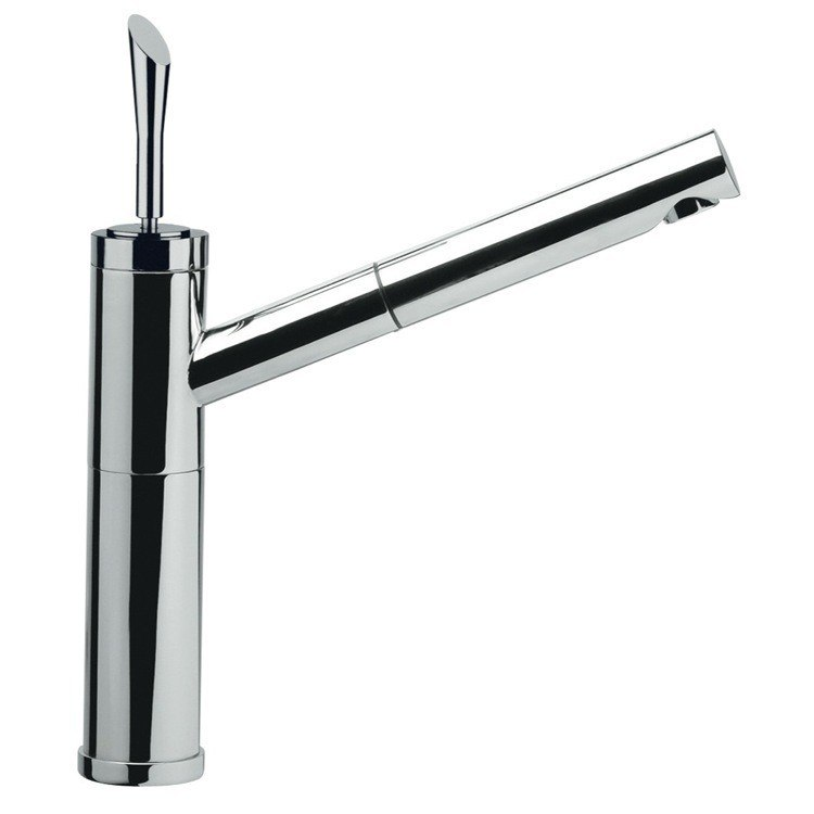 Remer J47 Jazz One Hole Sink Mixer With Pull Out Spray Jet And Single Lever In Chrome