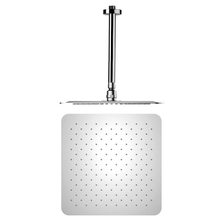 REMER 347N-US-RK400 ENZO SQUARE CHROME SHOWER HEAD WITH ARM