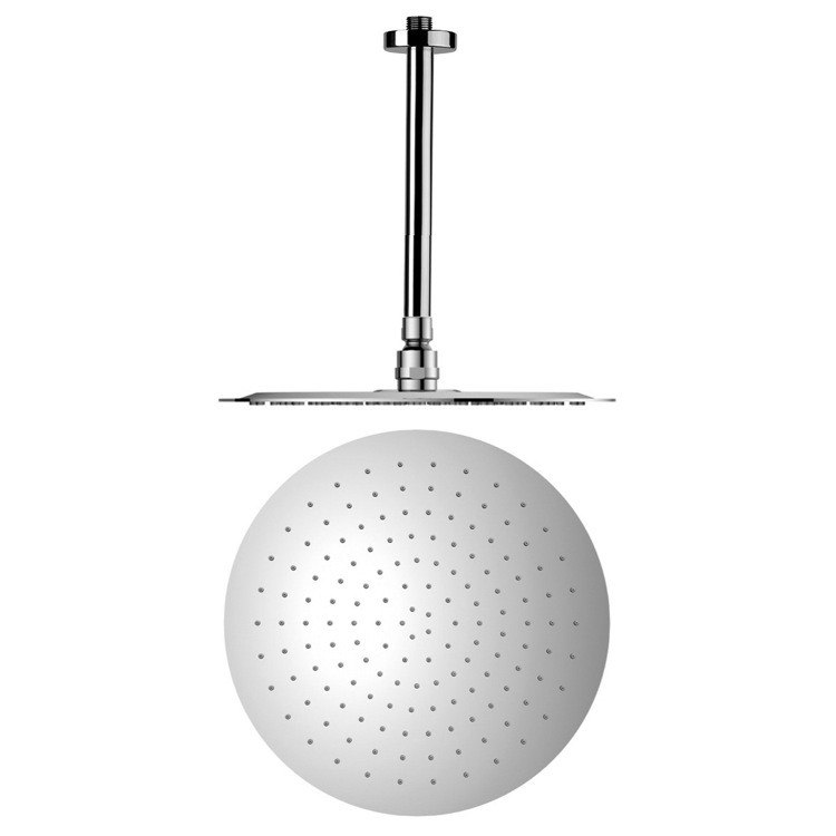 REMER 347N-US-RO400 ENZO CHROME SHOWER ARM WITH STAINLESS STEEL SHOWER HEAD