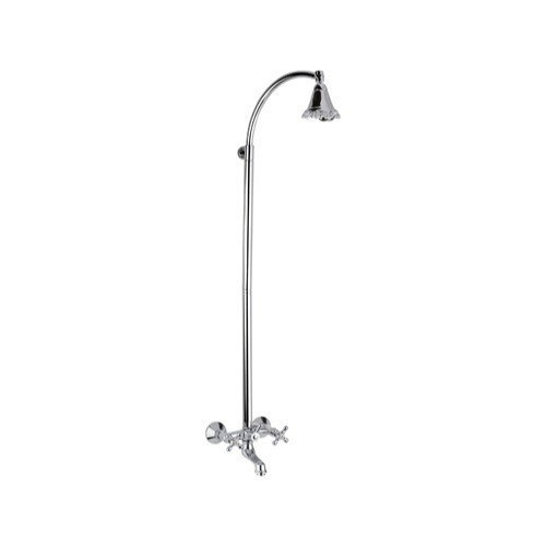 REMER LI08US LIBERTY BRASS BATHTUB MIXER WITH COLUMN AND SHOWER HEAD IN CHROME