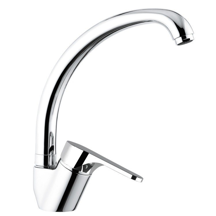 REMER L42US CLASS LINE LUXURY SINK MIXER WITH HIGH MOVABLE SPOUT IN CHROME