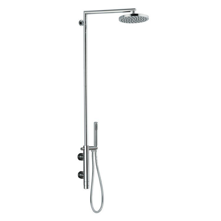 REMER NT36BUS MINIMAL THERMAL EXTERNAL THERMOSTATIC SHOWER SET IN BRASS IN CHROME