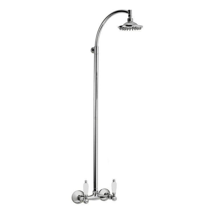 REMER LR36US RETRO WALL-MOUNTED SHOWER HEAD COLUMN IN CHROME FINISH