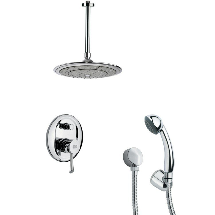 REMER SFH6000 ORSINO ROUND MODERN SHOWER FAUCET WITH HANDHELD SHOWER IN CHROME