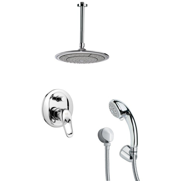 REMER SFH6001 ORSINO POLISHED CHROME SHOWER FAUCET SET WITH HAND SHOWER