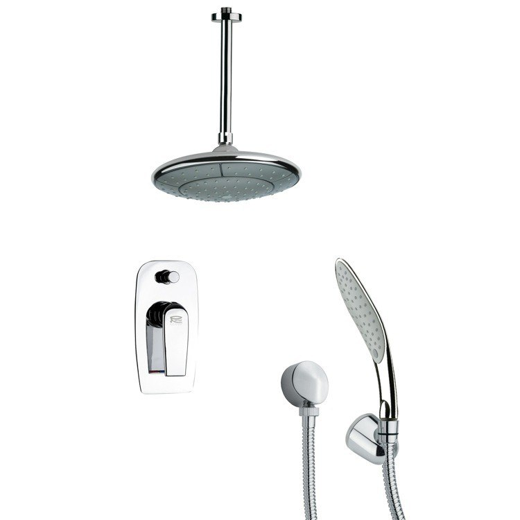 REMER SFH6006 ORSINO CHROME SHOWER FAUCET SET WITH HANDHELD SHOWER
