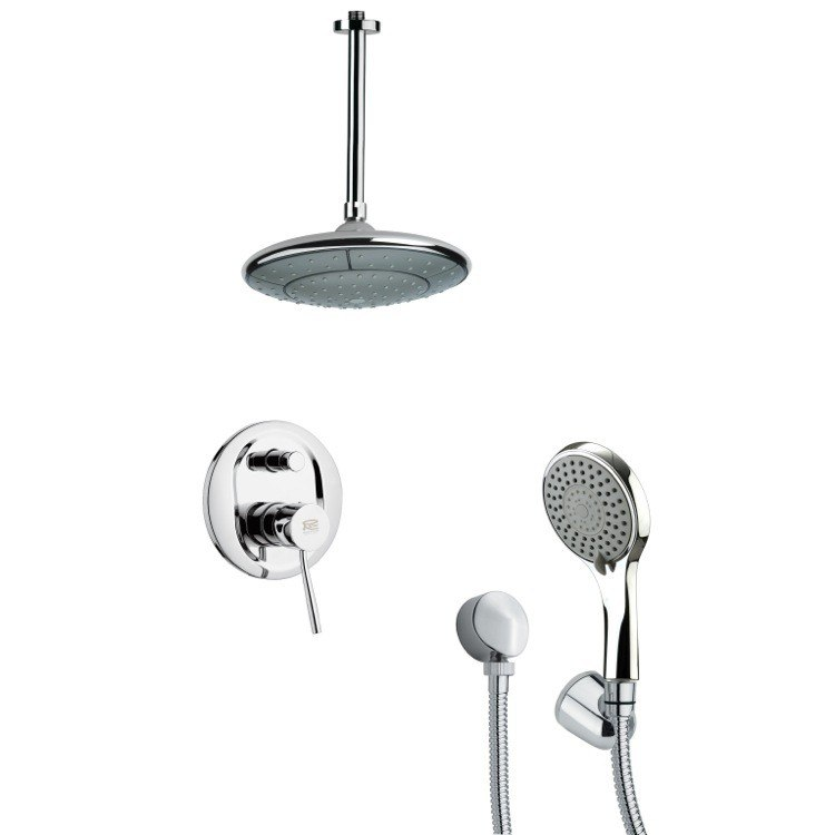 REMER SFH6007 ORSINO CONTEMPORARY CHROME SHOWER SYSTEM