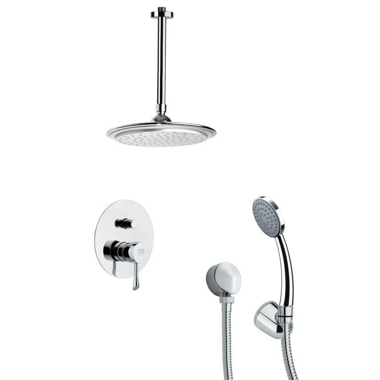 REMER SFH6008 ORSINO POLISHED CHROME SHOWER FAUCET WITH HAND SHOWER