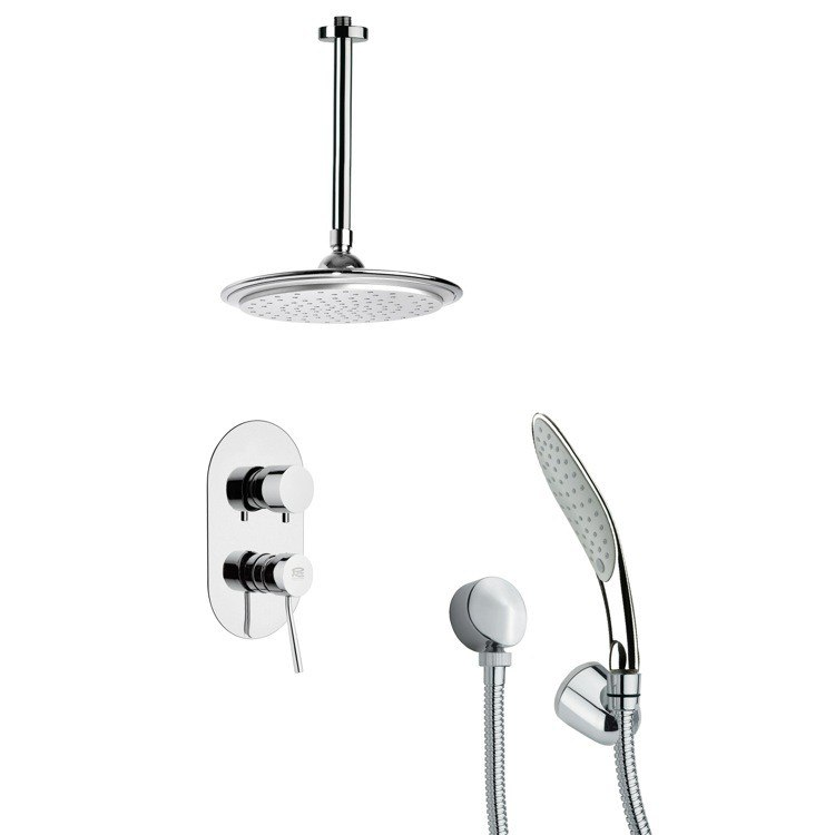 REMER SFH6012 ORSINO MODERN SHOWER FAUCET WITH HAND SHOWER IN CHROME
