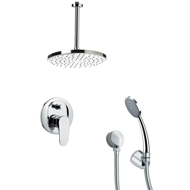 REMER SFH6014 ORSINO MODERN POLISHED CHROME SHOWER FAUCET WITH HANDHELD
